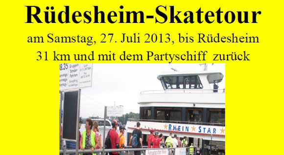 Rüdesheim-Tour am 27. Juli 2013