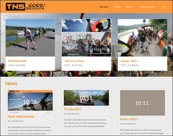 Neue TNSgoes!Homepage